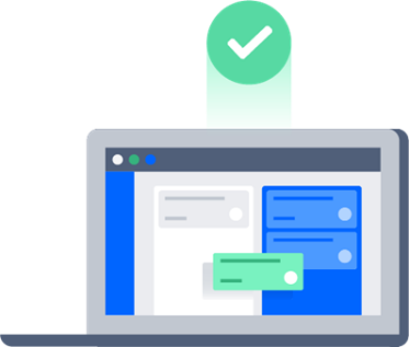 Illustrated Laptop that shows Jira Core interface