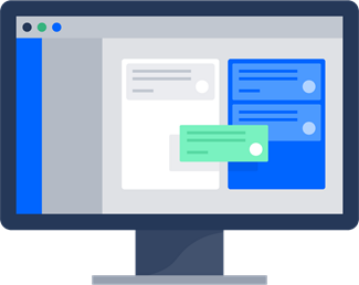 Illustrated Monitor that shows Jira Software